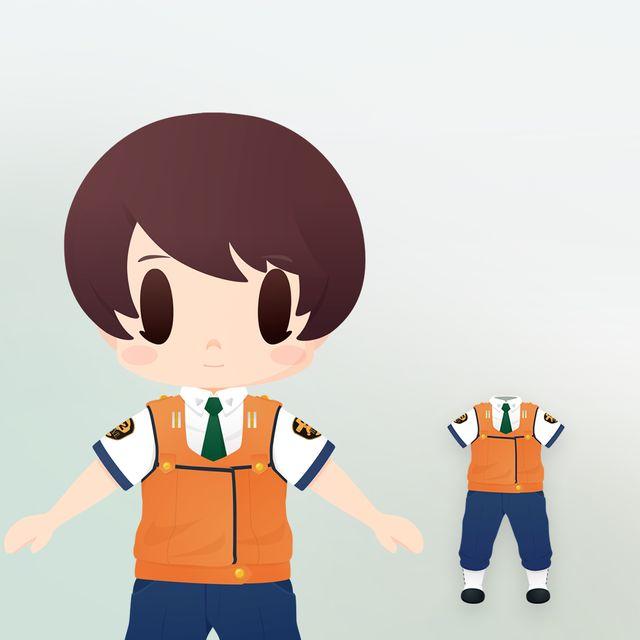 特車二課制服(ちび化体)_0