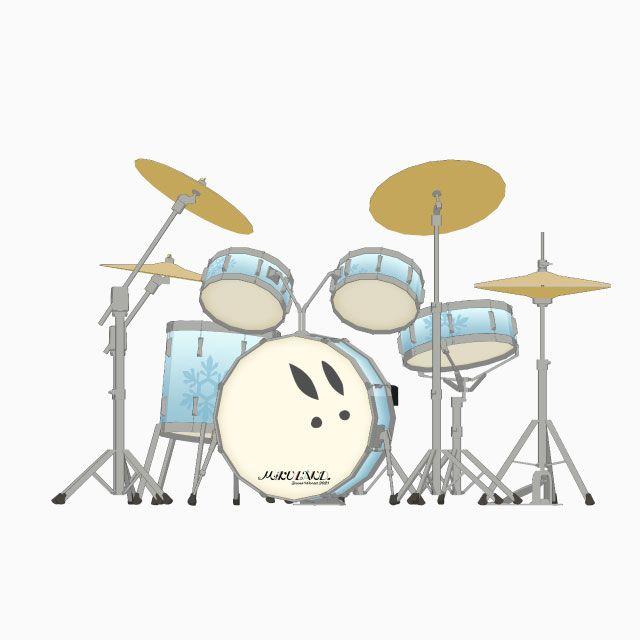 ドラムセット-MIKULAND β Snow World 2021
