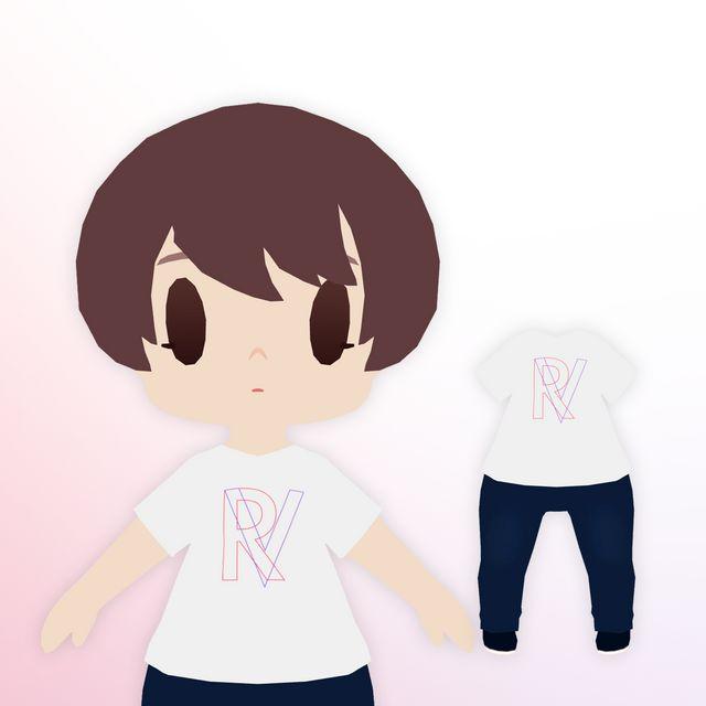TOKYO GAME SHOW VR 2021-来場者特典Tシャツ 01(ちび化体)