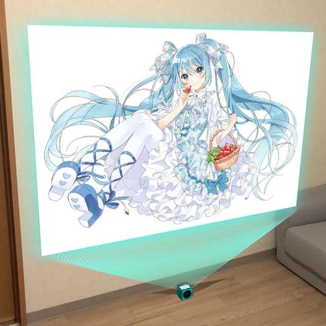 初音ミク-Art by へちま-ホロポスター(オリジナル衣装ver.)